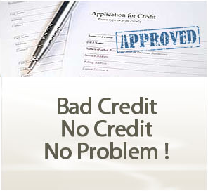 Having a bad credit score is not a problem